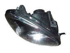 Права передня Фара в чорному корпусі (під електрокоректор) Ланос, Сенс, 96304611