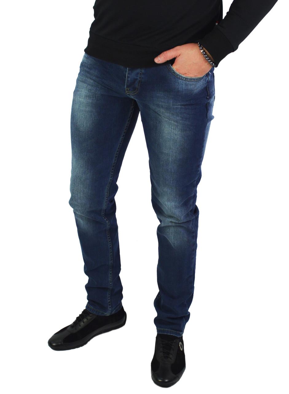 Синие мужские джинсы зауженные GET OVER