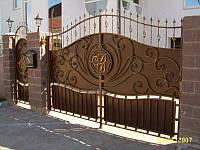 Ворота и калитка с ковкой
