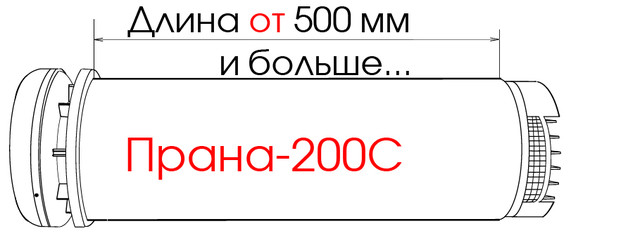 Конструкция рекуператораПРАНА 200C