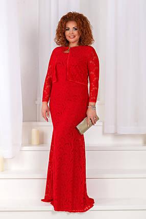 ДС430 Вечернее платье с болеро размеры 48-56 , фото 2