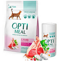 Optimeal (Оптимил) LAMB - сухой корм для взрослых кошек с чувствительным пищеварением (ягненок), 4кг.