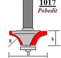 Фреза по дереву Lira 1017 R2D13,1*H5 мм (ножка 8мм)