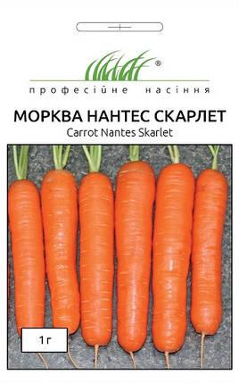 Семена моркови Нантес Скарлет 1 г, Unigen Seeds, фото 2