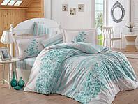 Комплект постельного белья сатин тм Hobby евро размер Serena бирюзовый