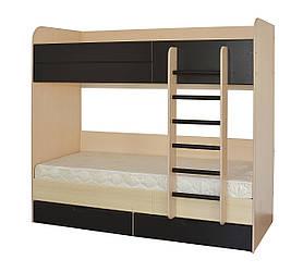 Двухярусная кровать Летро Макс 80х200см дуб шамони/темный венге