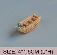 Лодка Большая Микро декор для Муравьиной Фермы ( малый декор, арт декор, декор для вазонов)