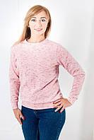 Нежная трикотажная женская кофта розового цвета