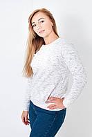 Нежная трикотажная женская кофта белого цвета
