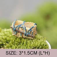 Поилка кормушка Двойная Корзинки Микро декор для Муравьиной Фермы ( малый декор, арт декор, декор для вазонов)