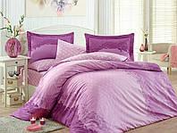 Комплект постельного белья сатин тм Hobby евро размер Filomena сиреневый