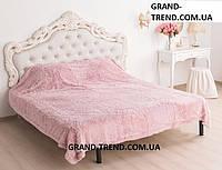 Ворсистое покривало Євро розміру East Comfort рожеве