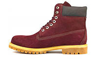 Зимние Женские ботинки Timberland Bordo (Натуральный мех)