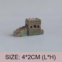 Замок со спуском Микро декор для Муравьиной Фермы ( малый декор, арт декор, декор для вазонов)