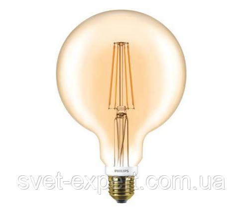 LED Classic 7-60W G120 E27 2000K GOLD APR Philips светодиодная диммируемая, фото 2