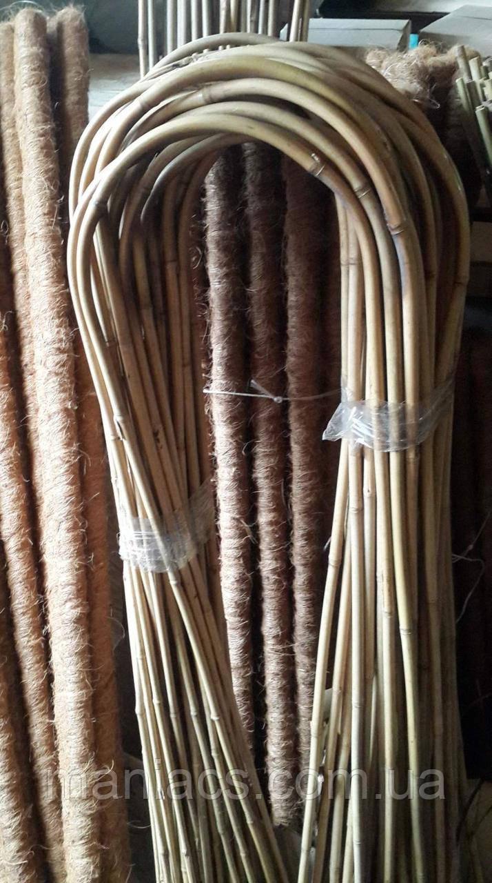 Гнута бамбукова опора 150 см для квітів