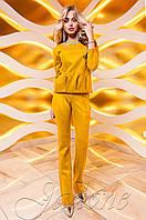 Женский горчичный костюм Карис Jadone Fashion 42-48 размеры