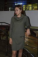 Модное трикотажное платье с хомутом Турция, фото 1