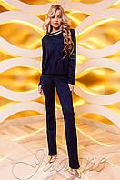 Женский темно-синий костюм Карис Jadone Fashion 42-48 размеры