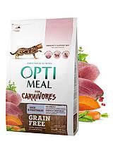 Optimeal (Оптимил) Duck & Vegetables - беззерновой корм для кошек (утка), 0,65кг.