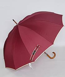 Зонт-трость бордового цвета