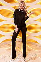 Женский черный костюм Карис Jadone Fashion 42-48 размеры