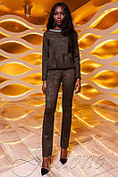 Женский костюм Карис хаки Jadone Fashion 42-48 размеры