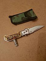 Выкидной ножик с фонариком