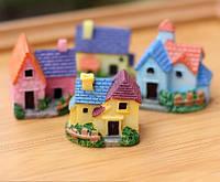 Разноцветный Домик Микро декор для Муравьиной Фермы ( малый декор, арт декор, декор для вазонов)