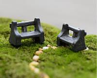 Лавочка Микро декор для Муравьиной Фермы ( малый декор, арт декор, декор для вазонов)