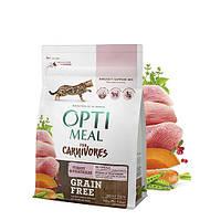 Optimeal (Оптимил) Turkey & Vegetables - беззерновой корм для кошек (индейка), 0,65кг.