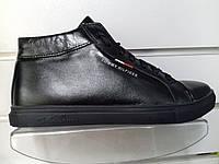 Ботинки ECCO  черн. кожа