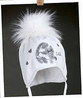 Красивый комплект шапка ТЕРМО и шарфик разные цвета для девочек 1-2 года