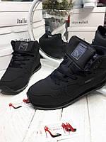 Мужские зимние кроссовки на меху Puma черные