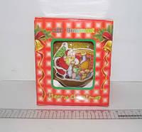 "Шарновогодний,золотистыйглиттер + глянец ""Christmas"" 1 шт. 100 мм 6 LED"