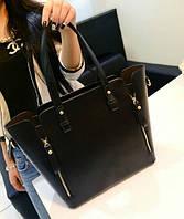 Женская сумка классическая 2 в 1 с клатчем