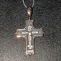 Крест золотой в стиле Возрождение , литье  вес 2.40 грамм
