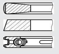 Кольца поршневые STD Fiat Ducato, Peugeot Boxer 2,5D/TD 92.0 (3-1,75-3,5) конус NPR 9-2374-00