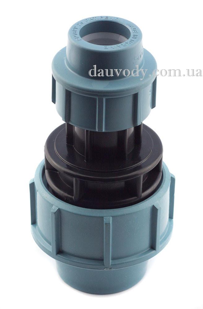 Муфта пнд редукционная 63х50 для полиэтиленовых труб (Santehplast)