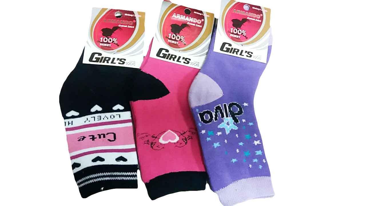 Носки махровые для девочек Armando, размеры  27/30 (24 шт), . арт.  ACP 653