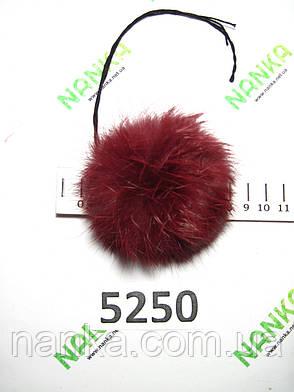 Меховой помпон Кролик, Бордовый, 8 см, 5250, фото 2