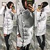 Пальто женское на синтепоне удлиненное  ам245