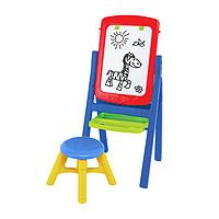 """Набор для творчества """"Мольберт №8"""" (доска, стульчик, маркер, губка, мел, буквы, цифры, знаки)"""