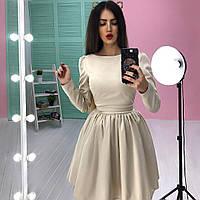 Однотонное платье с расклешенной юбкой в расцветках 63386
