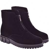 Замшевые ботинки зима
