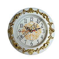 Настольные часы-будильник круглые с узором (№36) Оптом