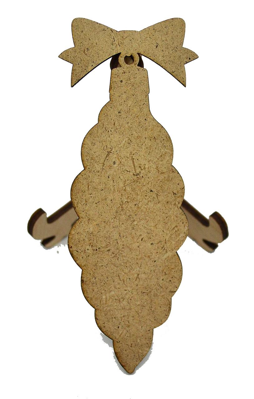 Деревянная новогодняя игрушка заготовка из ДВП. Игрушка крученая без гравировки