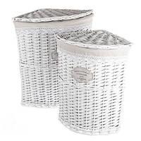 Комплект угловых бельевых корзин 2 штуки