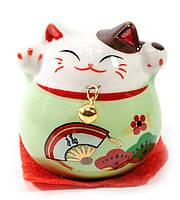 Кошка Манэки-нэко зеленая (5х5х5 см)