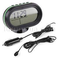 Автомобильные часы на подставке с подсветкой VST 7009V будильник, календарь, секундомер, таймер.